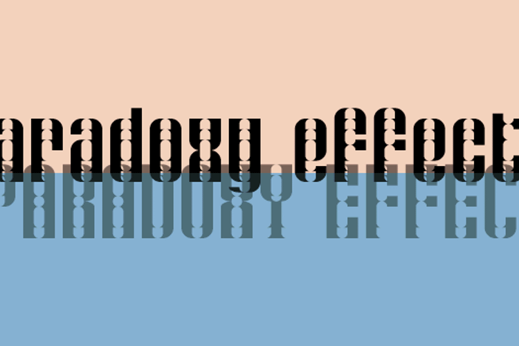 Paradoxy Effect Font