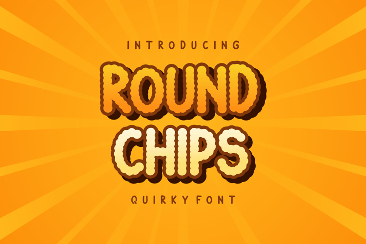 Round Chips Font