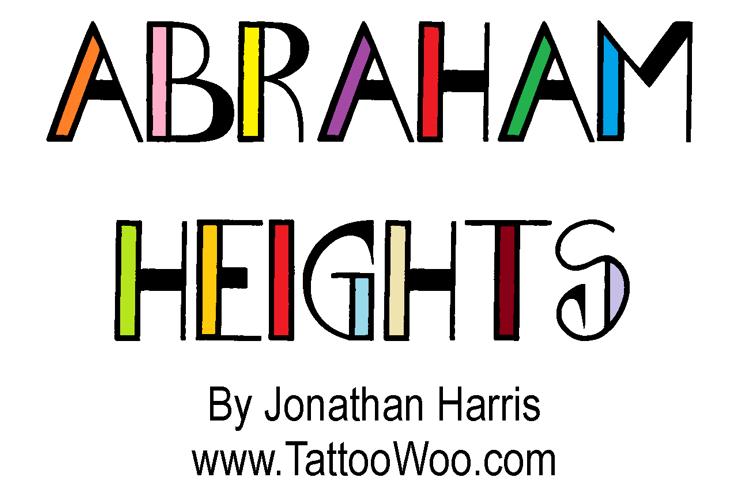 Abraham Heights Font