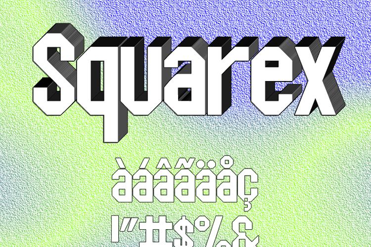 Squarex St Font