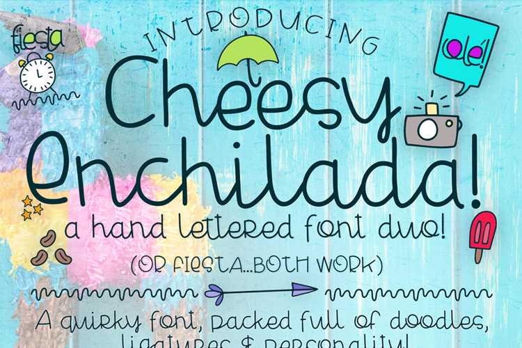Cheesy Enchilada Doodles Font