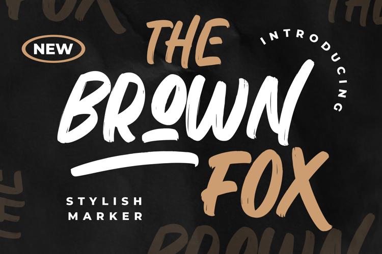 The Brown Fox Regular Font