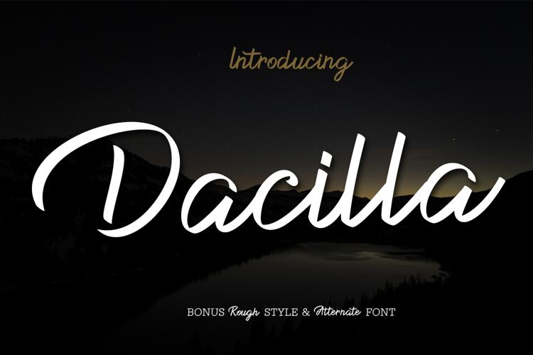 Dacilla Script Font