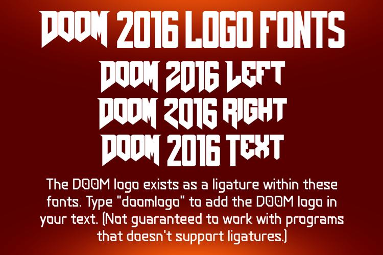 DOOM 2016 Font