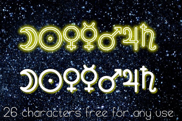 Astronomic Signs St Font