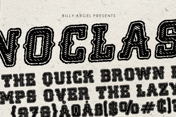 NOCLASS ITALIC Font