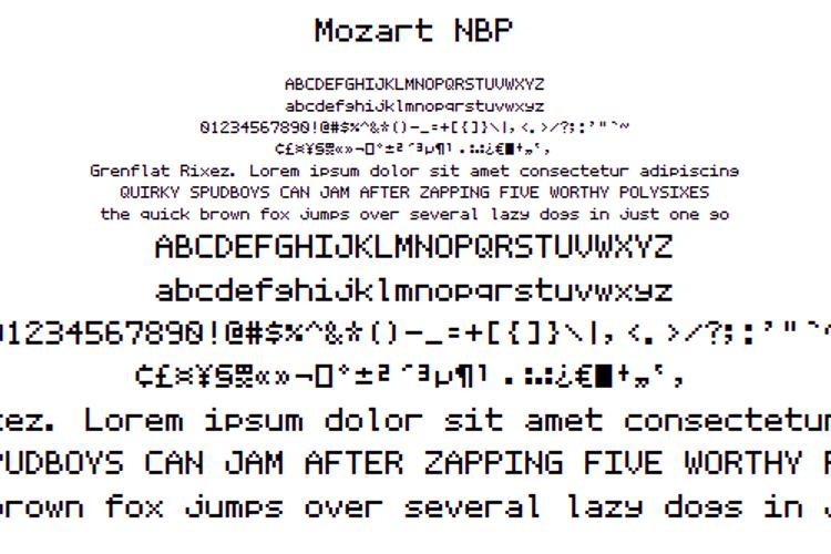Mozart NBP Font