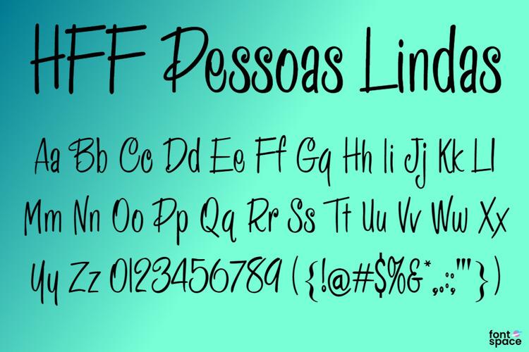 HFF Pessoas Lindas Font