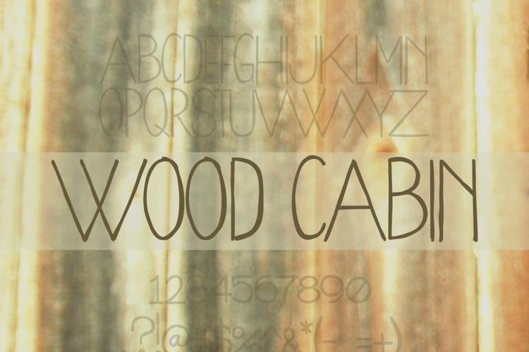 WoodCabin Font