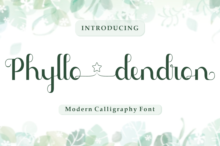 Phyllodendron Font