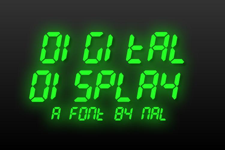 Digital Display Font