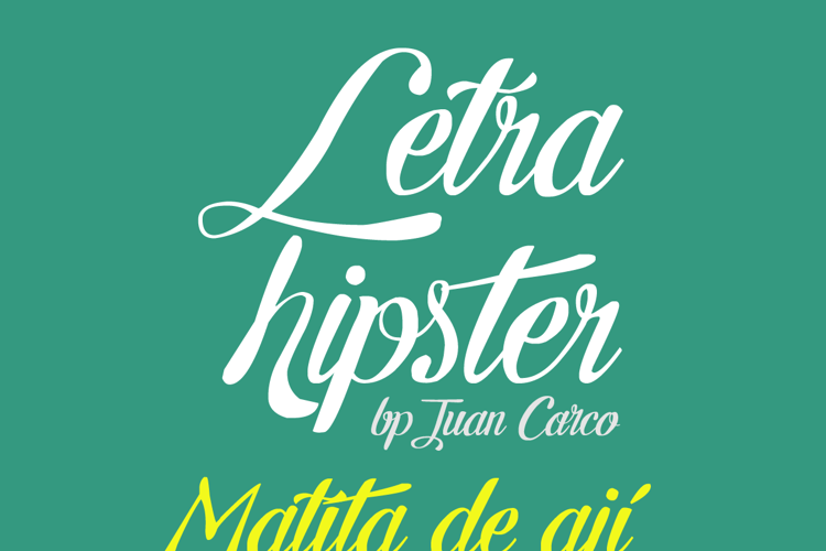 Letra Hipster Font