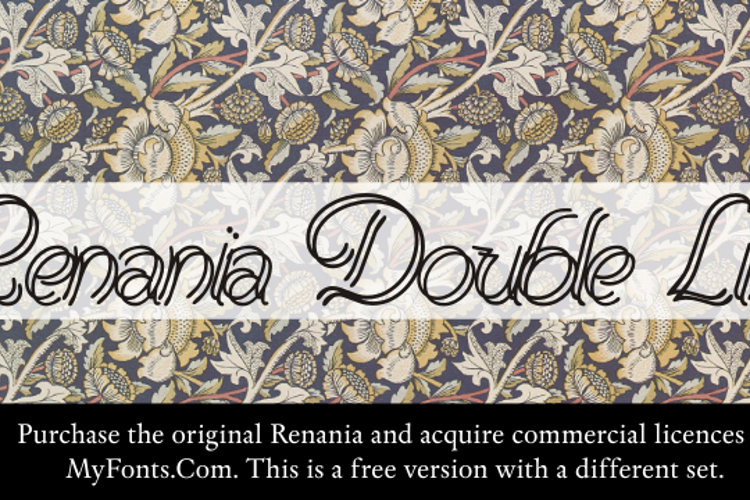 Renania Double Line Font