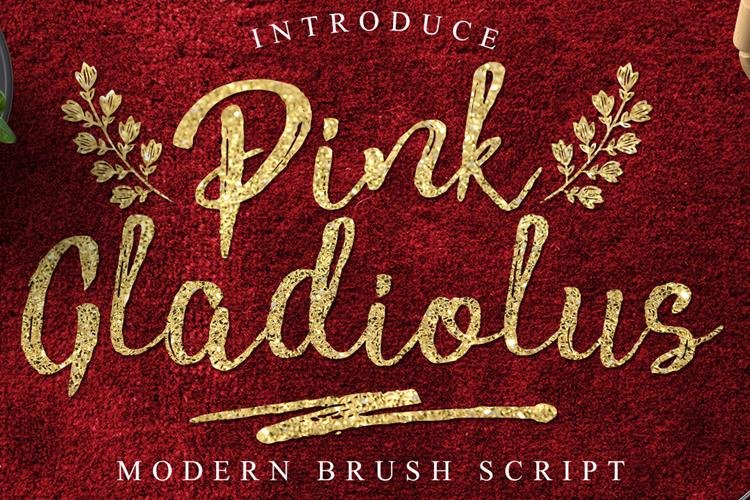 Pink Gladiolus Font