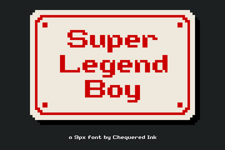 Super Legend Boy Font