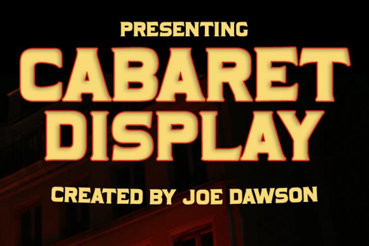 Cabaret Display Font