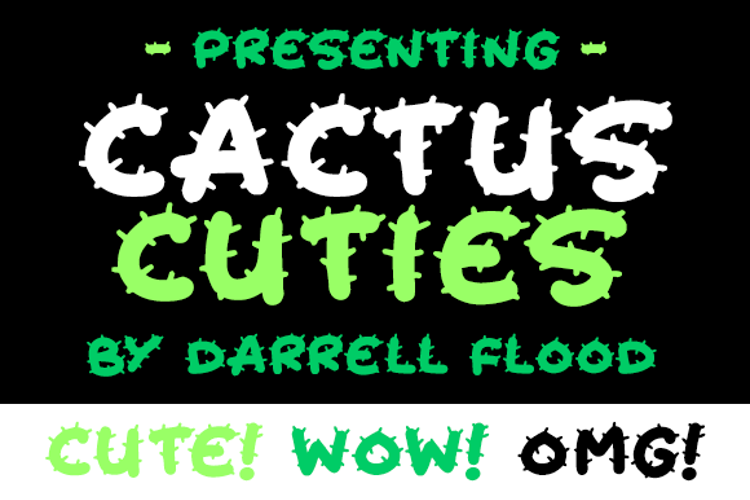 Cactus Cuties Font