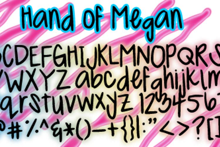 MeganHand Font