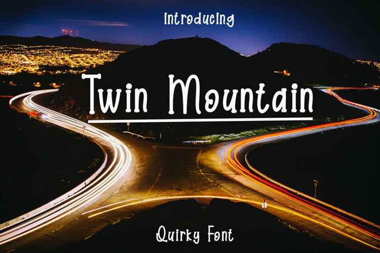 Twin Mountain Font