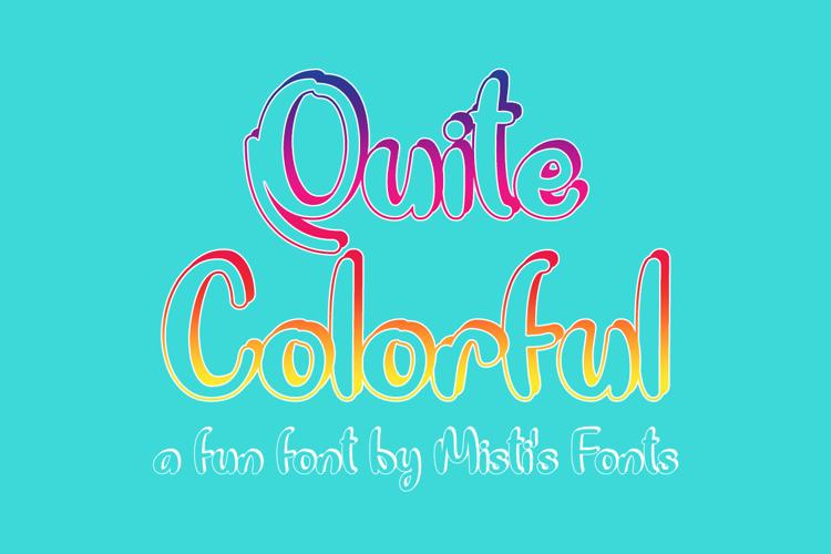 Quite Colorful Font