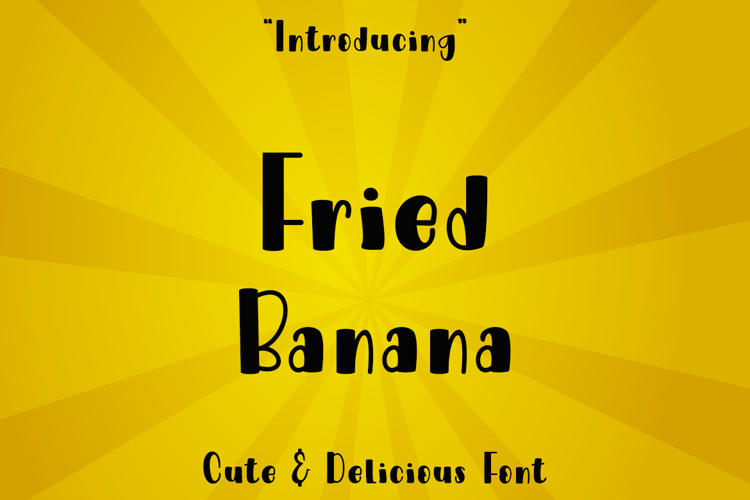 Fried Banana Font