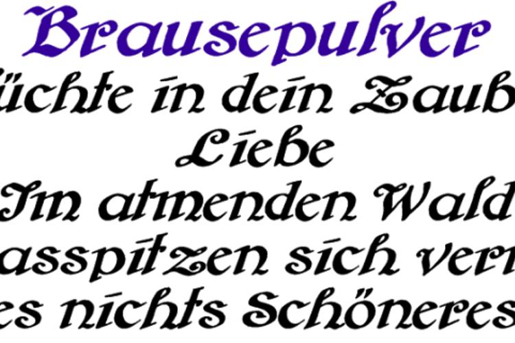Brausepulver Font