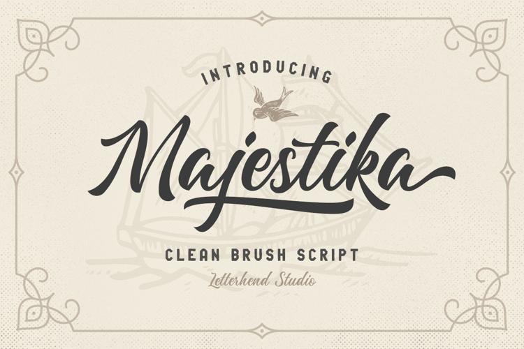 Majestika Script Font