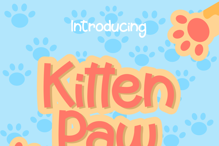 Kitten Paw Font