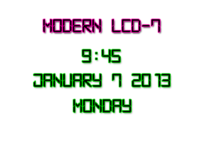 Modern LCD-7 Font