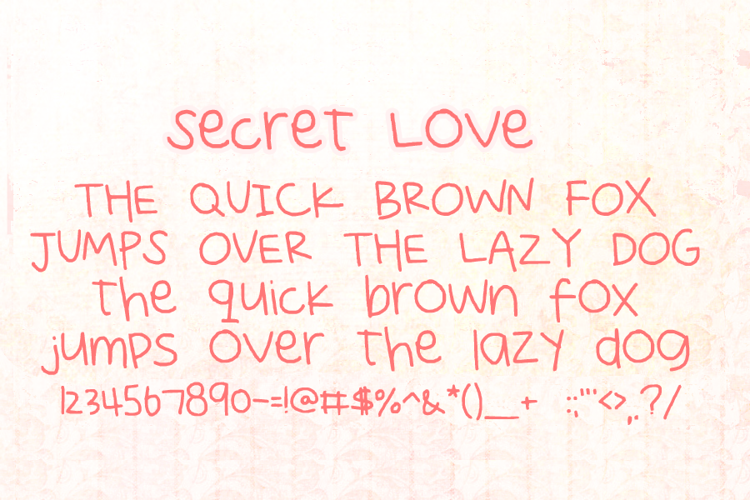Secret Love Font