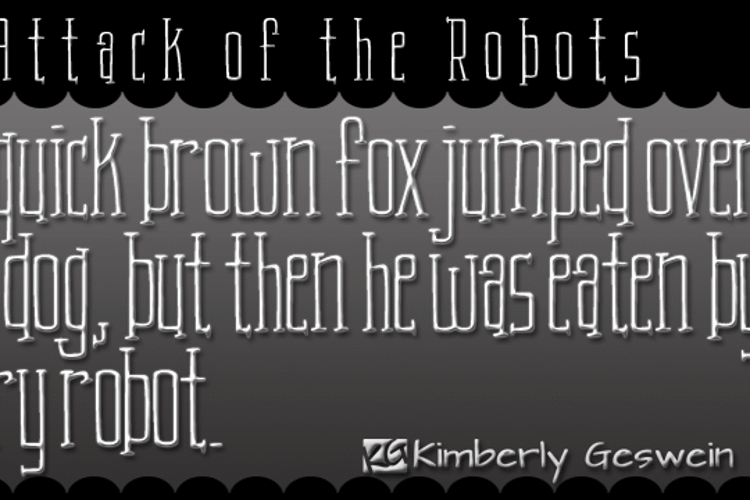 KG Attack of the Robots Font