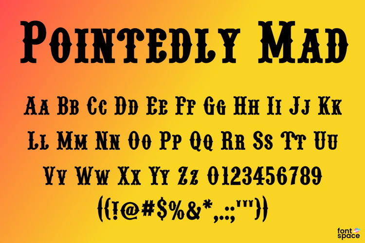 Pointedly Mad Font