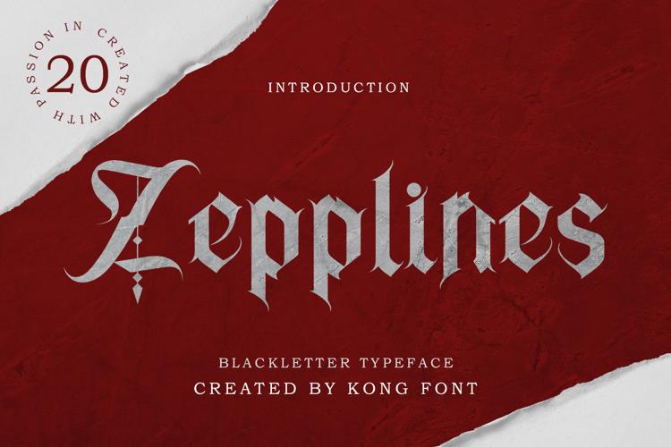 Zepplines Font