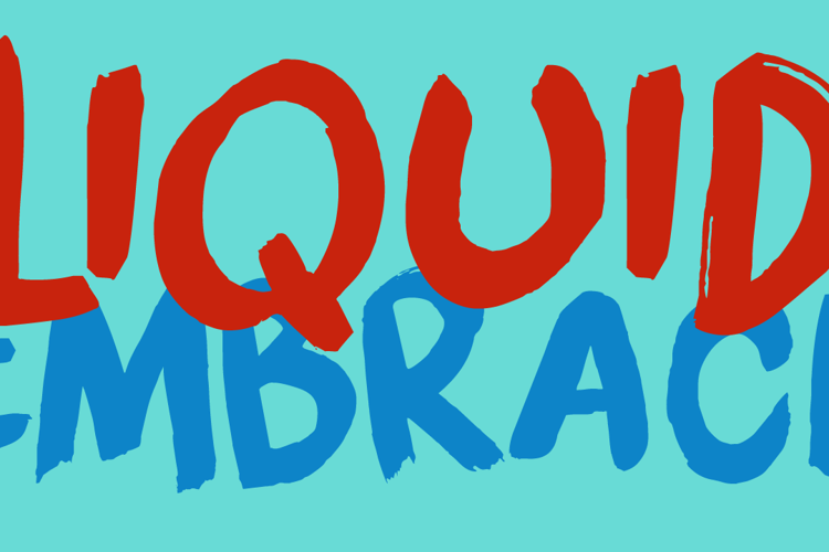 DK Liquid Embrace Font