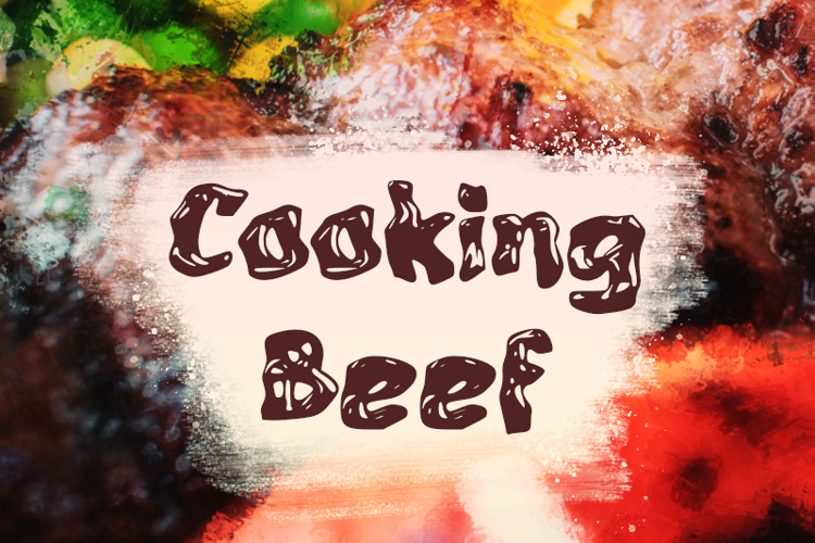 c Cooking Beef Font