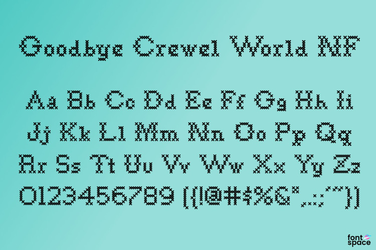 Goodbye Crewel World NF Font