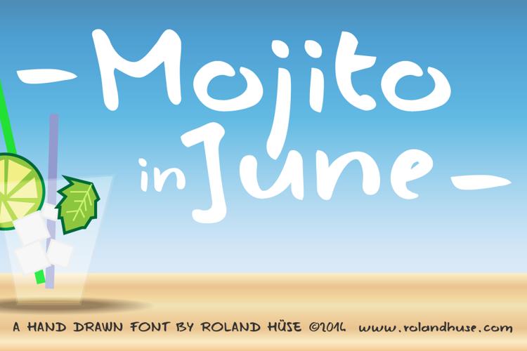 Mojito in June Font