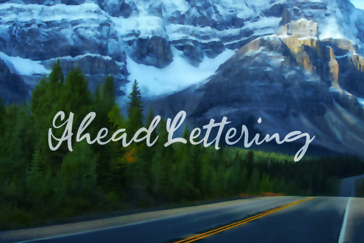 a Ahead Lettering Font
