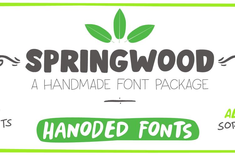 Springwood Brush Font