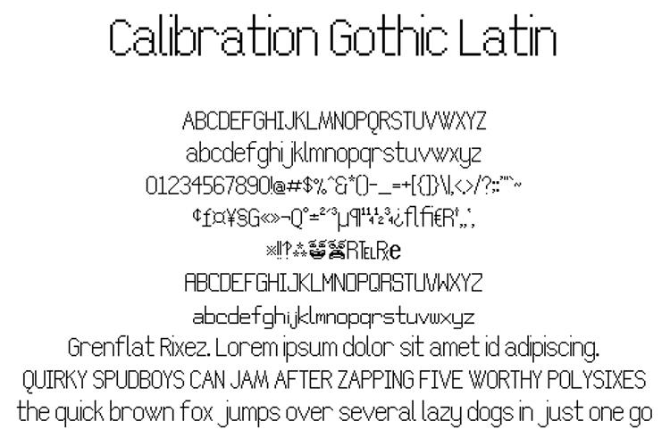 Calibration Gothic NBP Latin Font