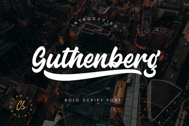 Guthenberg Font
