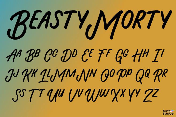 Beasty Morty Font