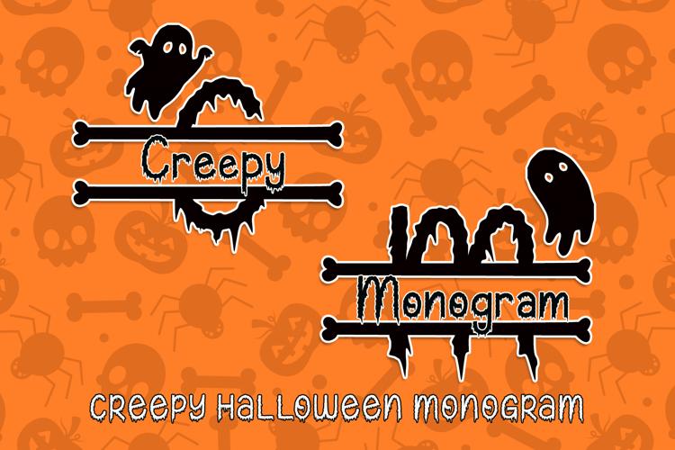 Creepy Halloween Monogram Font