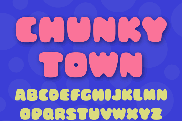 Chunky Town Demo Font