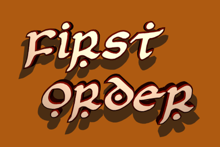 First Order Font