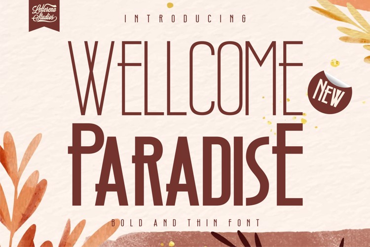 Wellcome Paradise Font