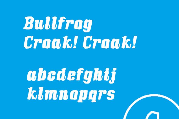 Bullfrog Font