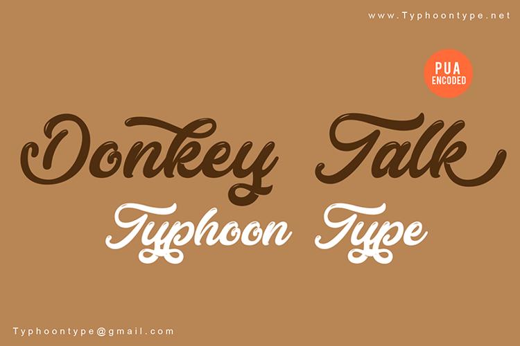 Donkey Talk Font