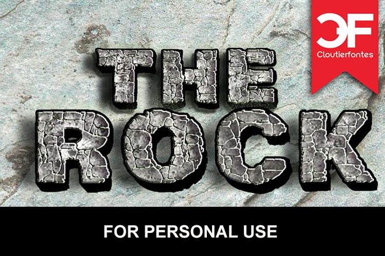 CF The Rock Font
