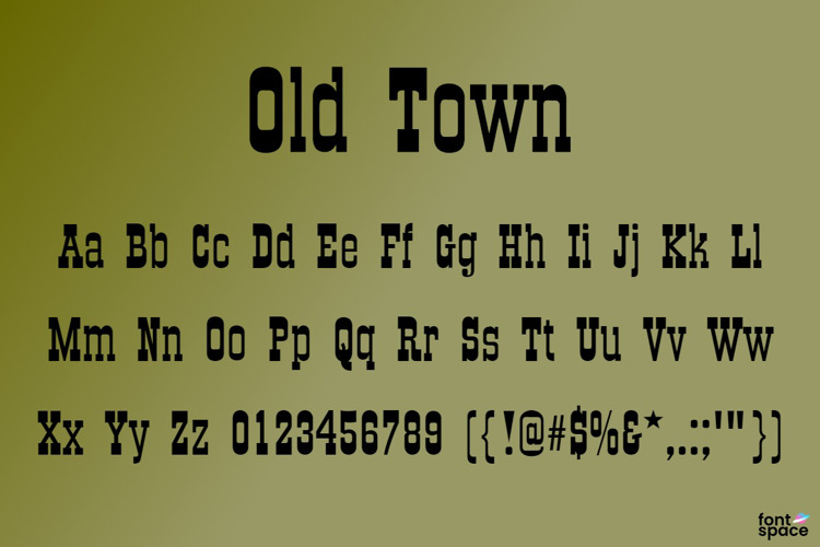 Old Town Font